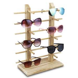 #WD-12OK Wooden Eyeglass Rack for Showcasing 12 Pairs of Glasses