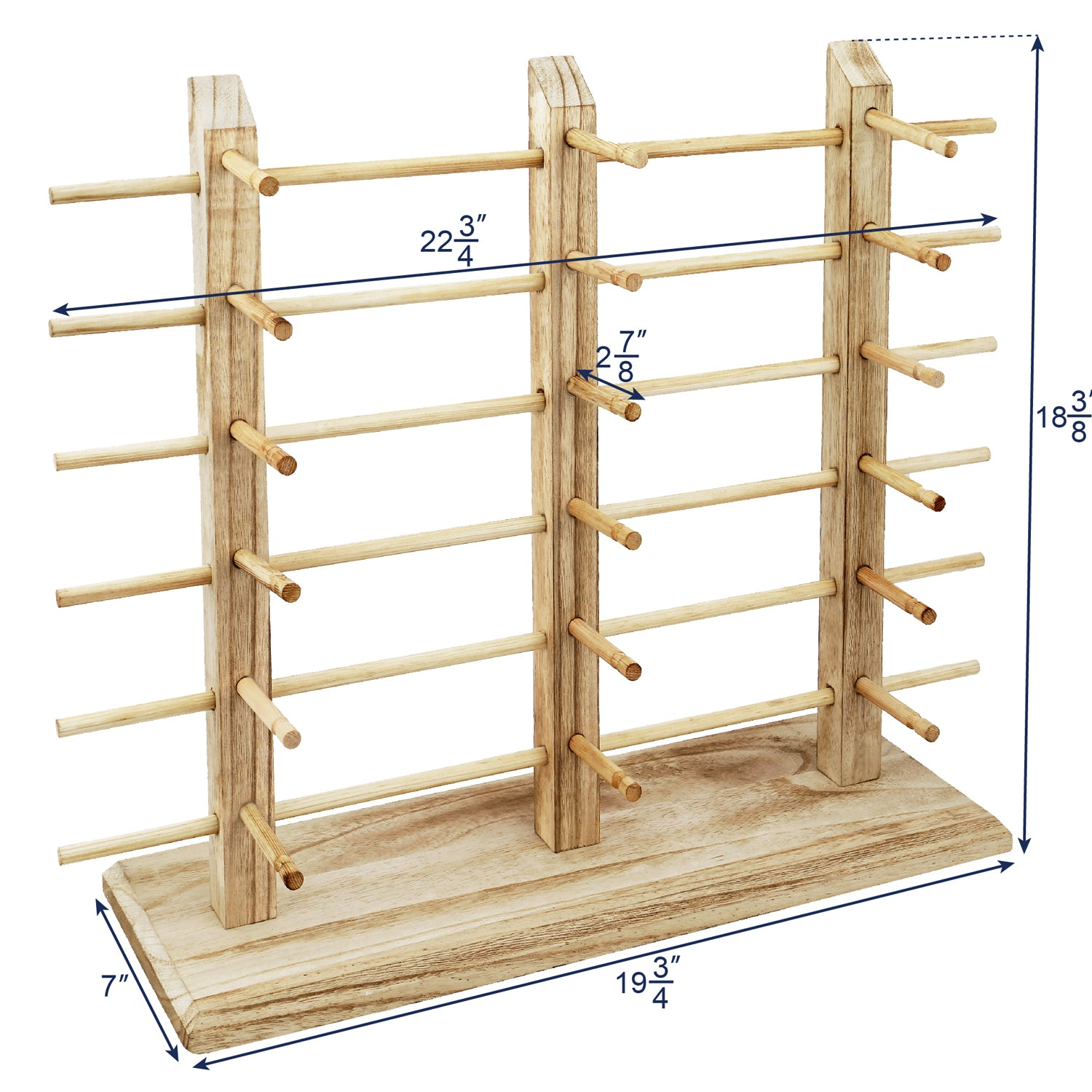 #WD-18OK Wooden Eyeglass Rack for Showcasing 18 Pairs of Glasses