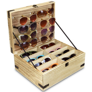 #WDEY024 Wooden Eyeglasses Sunglasses & Eyewear Display Case
