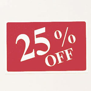 #TA-36 Plastic Sign '' 25% Off ''' For Optical Store