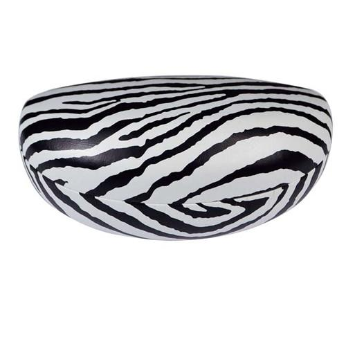 "#EYC-9409 Extra Large Sunglass Case Zebra Print 6 1/2""W x 2 7/8""D x 2 5/8""H 