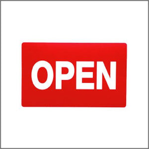 #TA-24 Plastic Sign '' Open '' For Optical Store