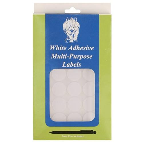 "#TA782  White Removable Adhesive Labels (1000pcs/box), 3/4""Dia. Round"
