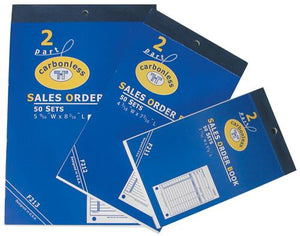 #F212 2-Part Sales Order Carbonless Book