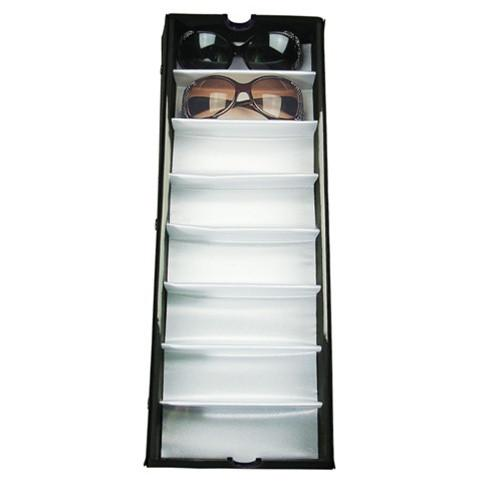 #TR-18BCL View top eyewear case  for 8 pairs Large eyeglasses. With a clear vinyl cover on top.