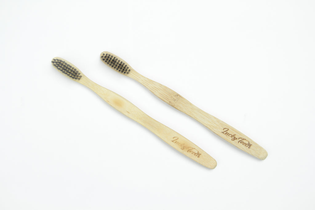 Bamboo Charcoal Toothbrush - Soft Bristles, BPA & Phthalates Free
