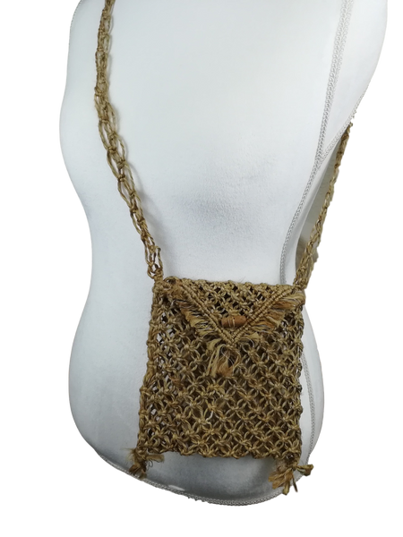 Hemp Cross-body Net Bag
