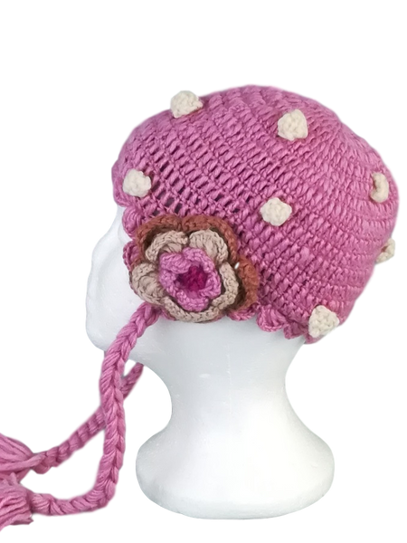 Dotted Flower Hat #7911DF
