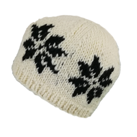 Snowflakes wool hat #4053