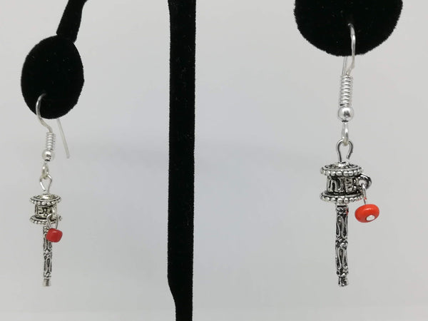 Prayer wheel earring #10315