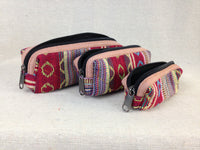 Set of 3 zippered pouches