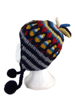 Hand knitted wool hats #9549