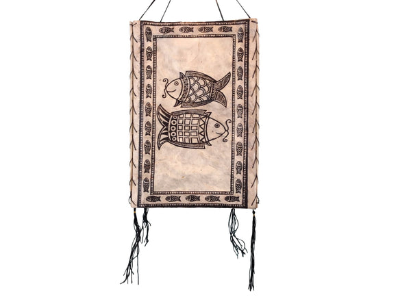 Handmade paper lantern-Two Fishes