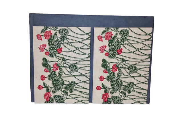 Hand made paper greeting cards-Lotus