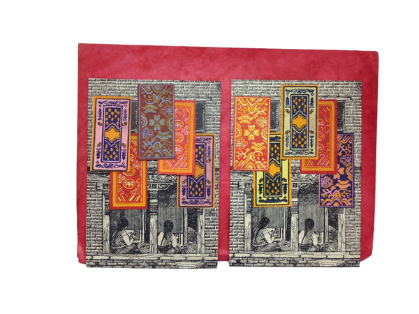 Hand made paper greeting cards-Tibetan carpet weaving
