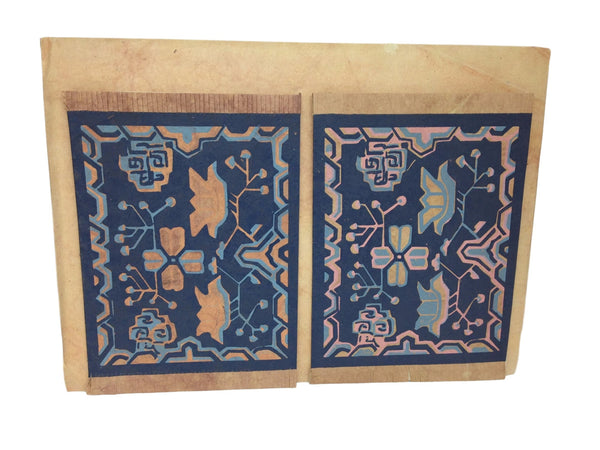 Hand made paper greeting cards-Tibetan rug