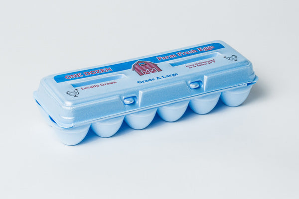 "Foam Blue Stock ""Grade A Large Farm Fresh"" Egg Cartons w/ FREE SHIPPING* Eggs not included"