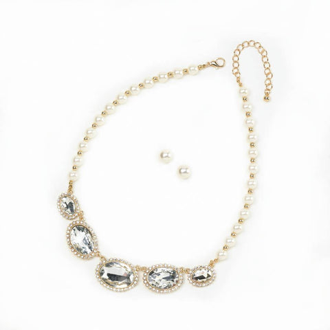 Brilliant Pearls Jewelry Set