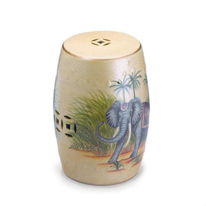 Far East Elephant Ceramic Stool