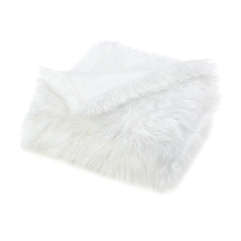 White Faux Fur Blanket