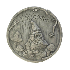 Welcome Gnome Stepping Stone