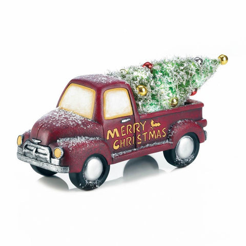 Light-Up Christmas Truck Decor