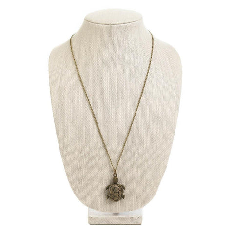 Turtle Necklace Timepiece