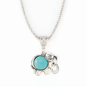 Turquoise Elephant Necklace