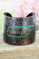 Hammered Coppertone Tennessee Cuff Bracelet
