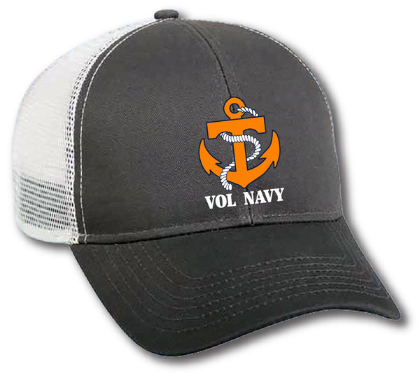 Grey/White Mesh Vol Navy Hat