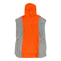 Orange Hooded Poncho