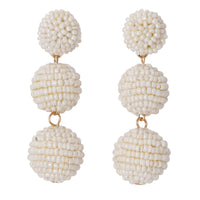 Seed Bead Ball Earrings