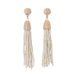 Seed Bead Tassle Earrings
