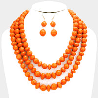 Triple Strand Necklace Set