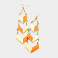 Two Tone Chevron Earrings