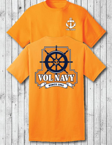 Vol Navy Captains's Wheel Shirt