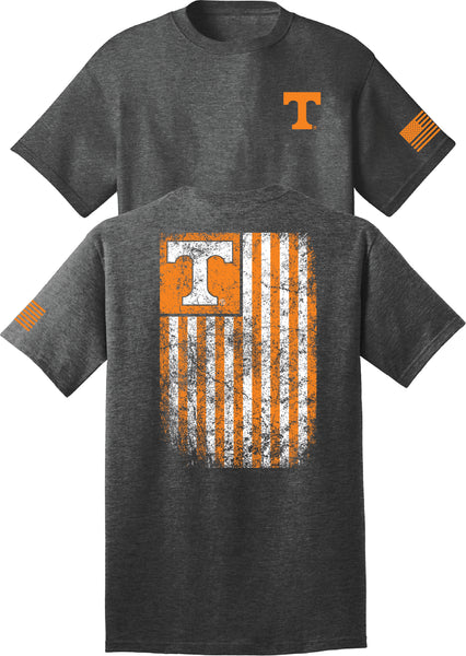 Tennessee Faded Flag Charcoal Shirt