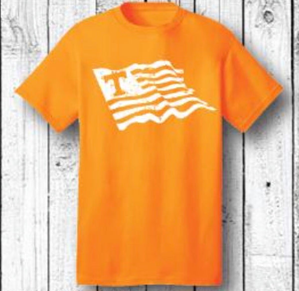 Orange Wave Flag Shirt