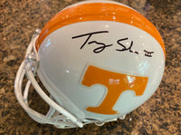 Trey Smith signed Mini Helmet