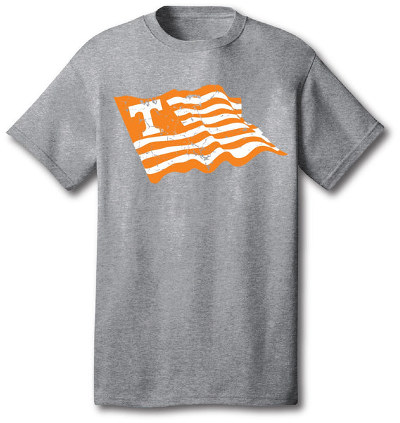 Grey Wave Flag Shirt
