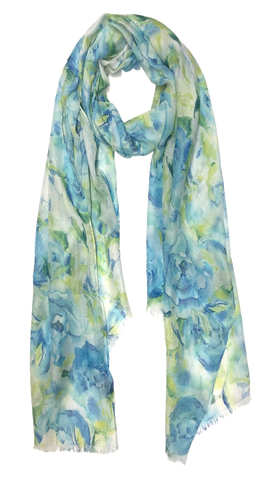 Floral Burst Blue/Lime Scarf