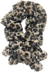 Animal Faux Fur Pull-Thru scarf