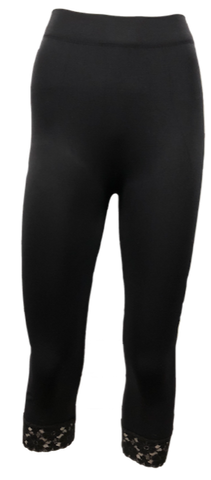 Lace Trimmed Core Capris