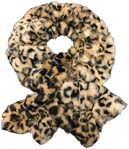 Luxe Animal Faux Fur Pull-Thru scarf