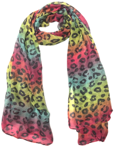 Bright Striped Spots Scarf