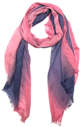 Ombre Raw Edge Scarf