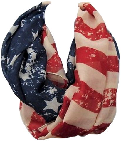 American Flag Eternity Scarf
