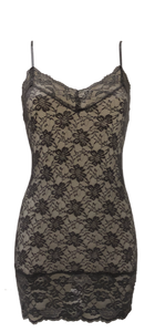 Long Mixed Lace Camisole