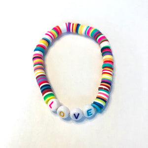 LOVE Stretch Neon Bracelet