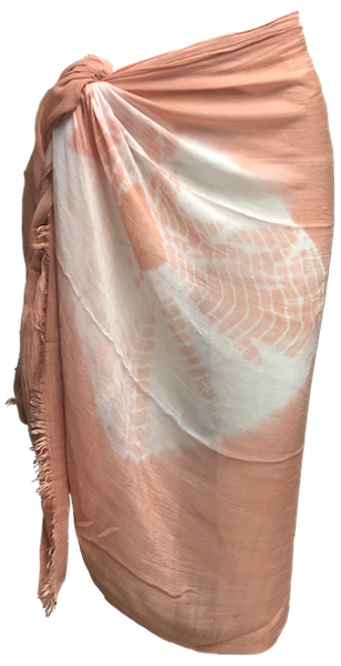 Circle Tie Dye Scarf/Pareo Fringe Edges